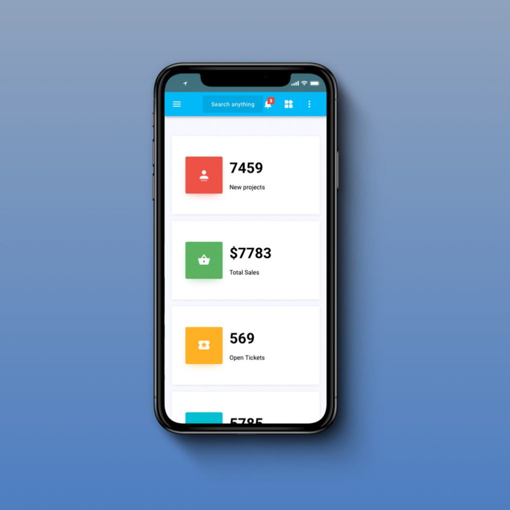 material pro mobile template