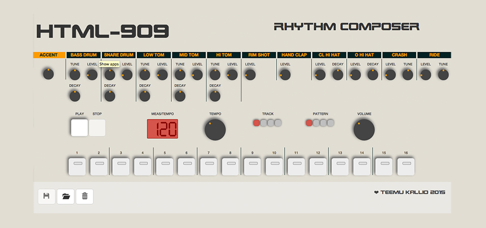 Drum Machine roland 909 URBe