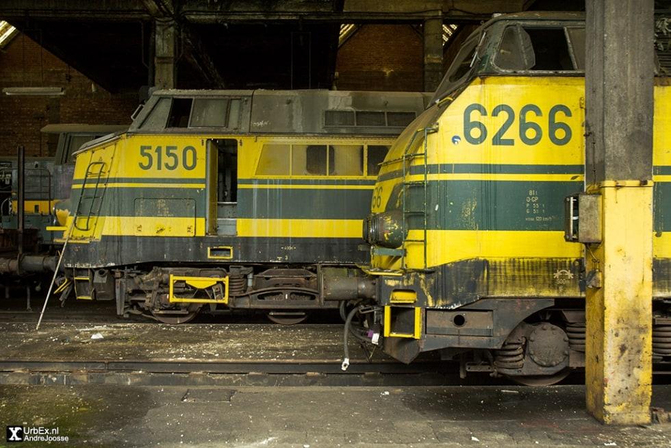 Cimetire de locomotives  Roux  UrbEx  Forgotten