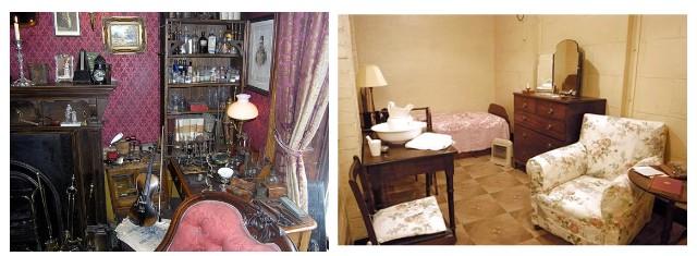 Las habitaciones de Sherlock Holmes y Winston Churchill