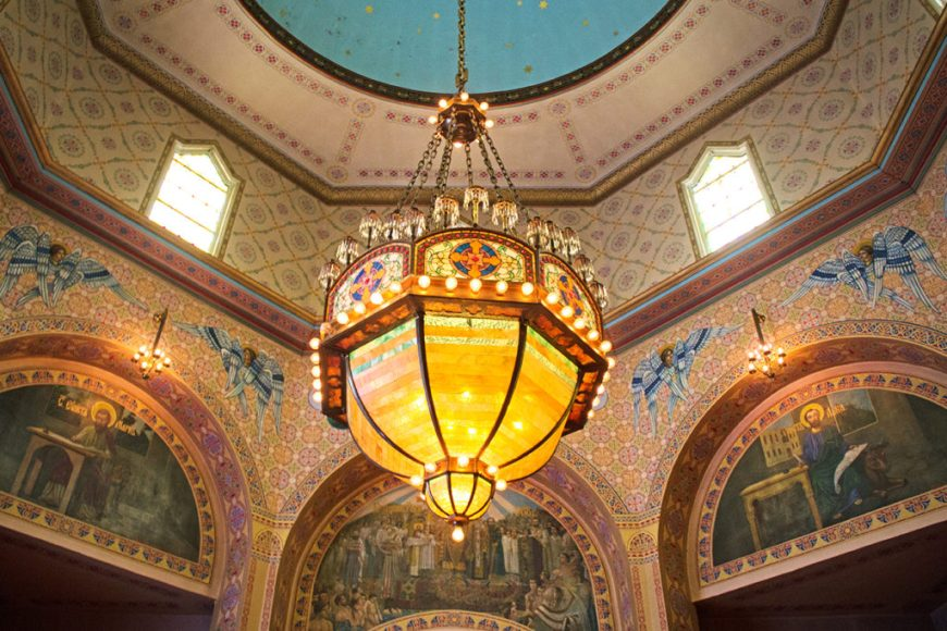 Interior photo of Holy Trinity Russian Orthodox Cathedral at Open House Chicago 2016