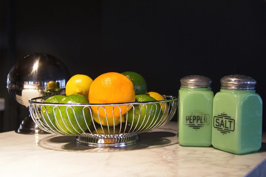 Photo of a counter at the Robey's lounge