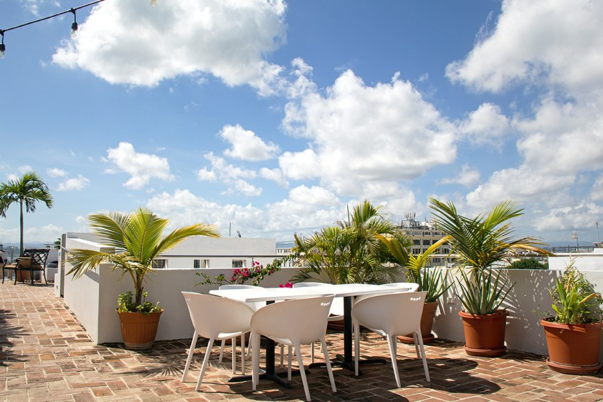 Photo of the rooftop restaurant at La Terraza De San Juan