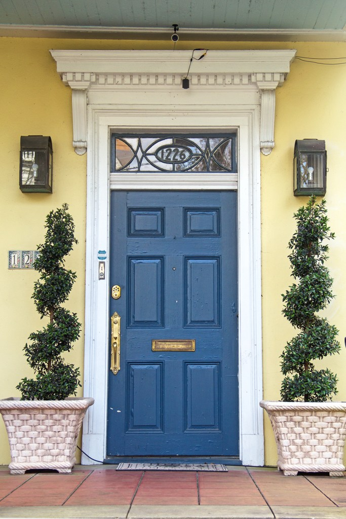 Image of a bright doorway in the New Orleans Garden District