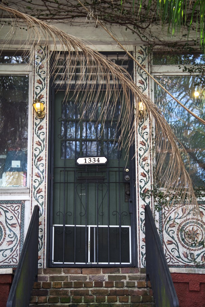Photo of a decorative doorway in New Orleans