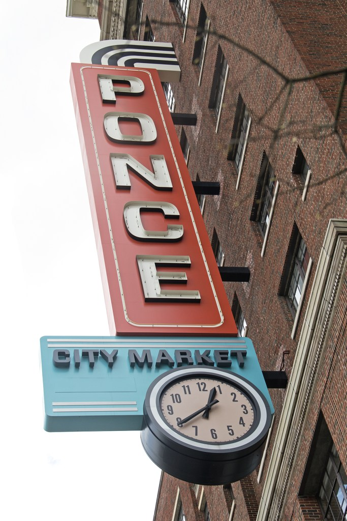 Photo of the Ponce City Market sign in Atlanta