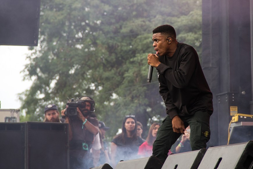 Image of Vince Staples performing at Pitchfork