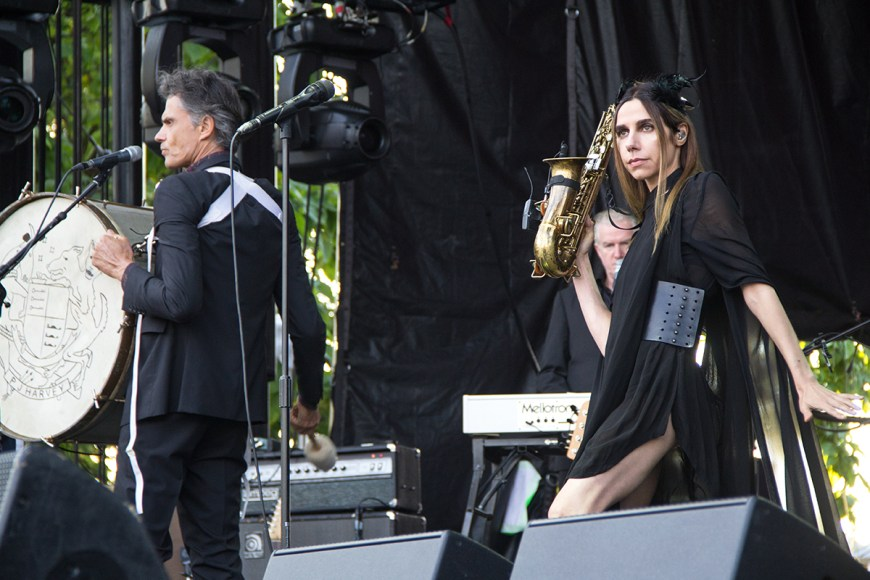 Image of PJ Harvey performing at Pitchfork