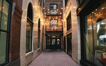 Hero Coffee is located in a private Chicago alley
