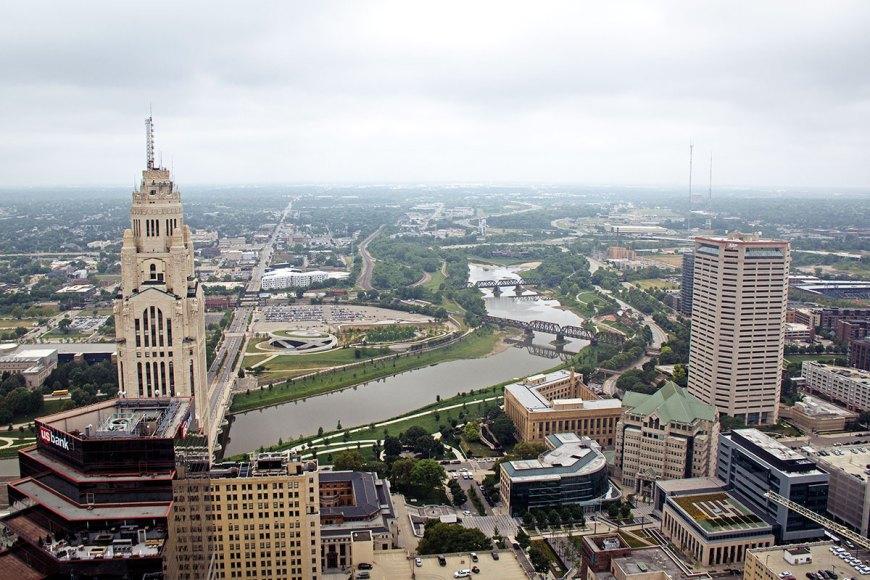 LeVeque Tower view in Columbus, Ohio