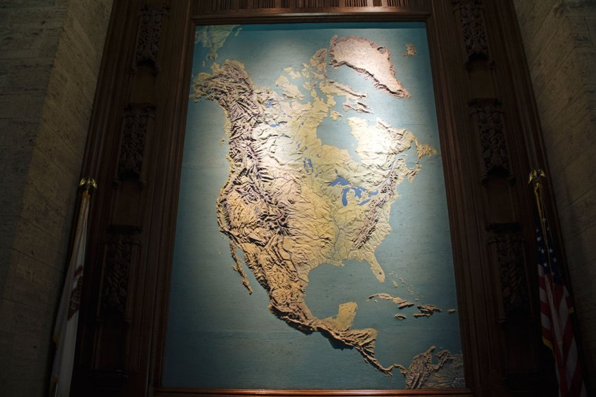 Tribune Tower lobby map