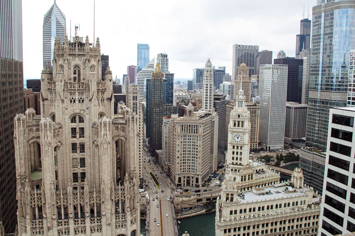 View of Chicago's Tribune Tower