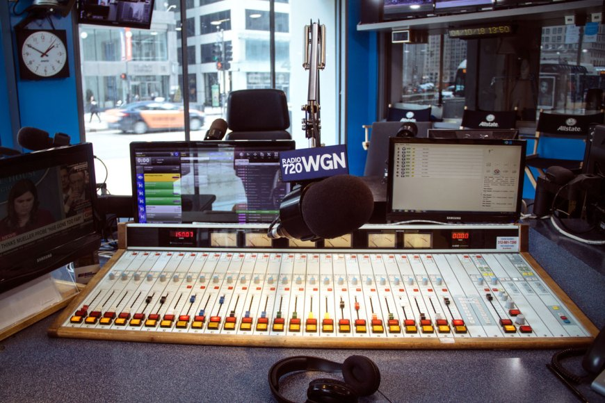 In the WGN Radio Studio