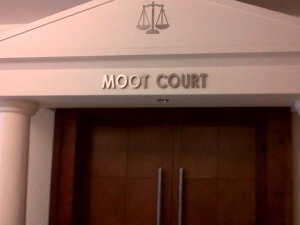 Entry to a moot court