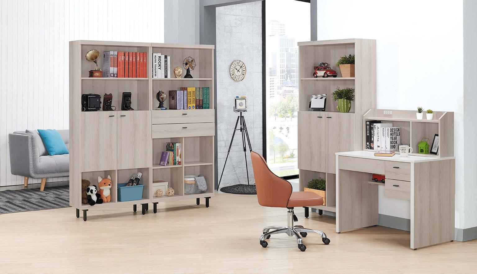 大掃除 收納 維爾拉2.7尺開門書櫃