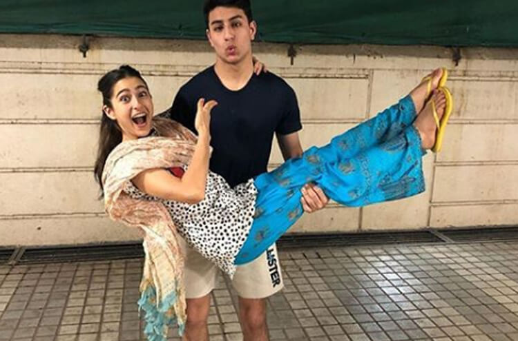 Sara Ali Khan With Brother Ibrahim