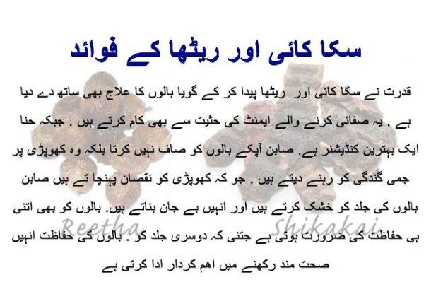 Benefits of Shikakai and Reetha for hair in urdu