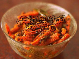 carrot pickle recipe in hindi - pickled carrots recipe in hindi