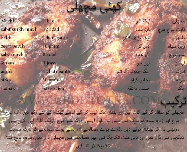 Khatti Machli Recipes