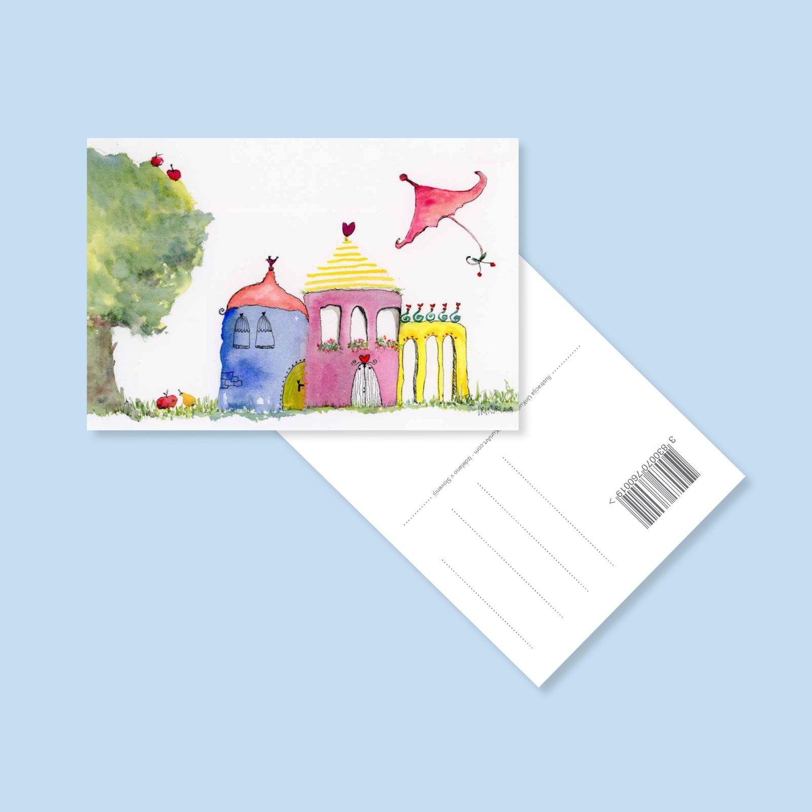 urikuri postcard little houses