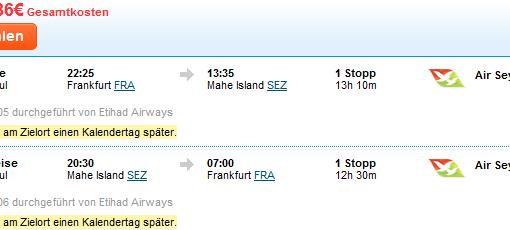 Ab auf die Seycellen um € 619,- ab Frankfurt