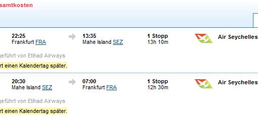 Seychellen fliegen ab € 642,-