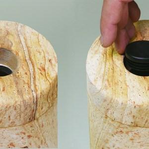 WASSERSTEIN PET wird von unten befüllt und verschlossen. / Waterstone PET is filled and closed from the bottom