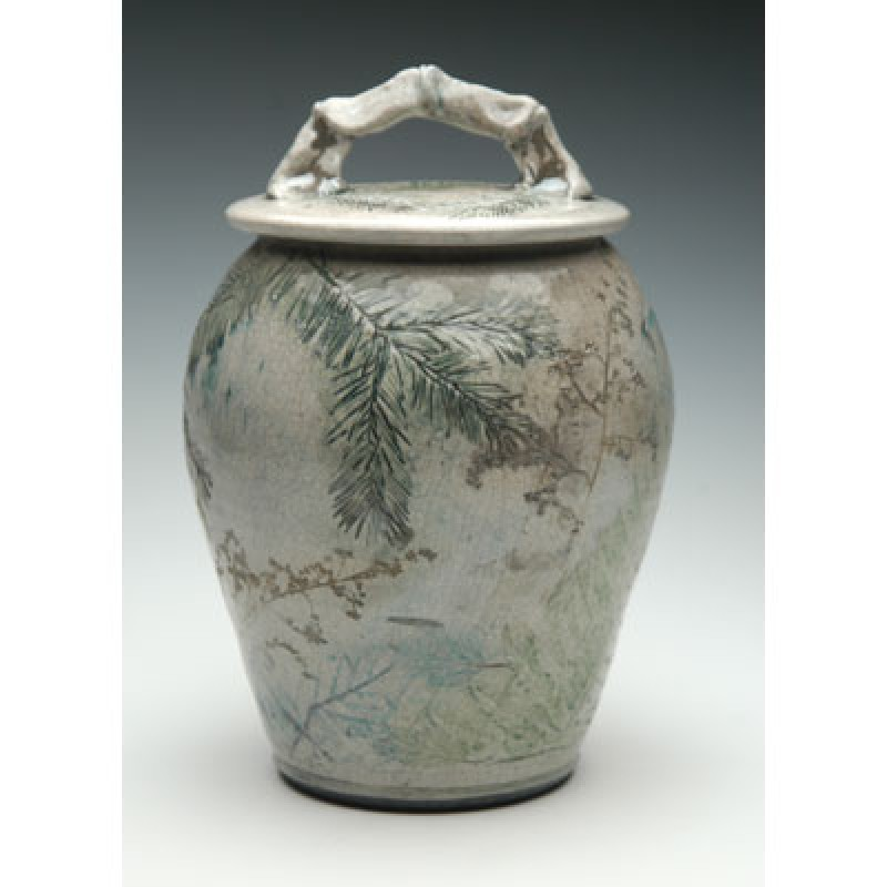 Pottery Cremation Urns Woodland Raku
