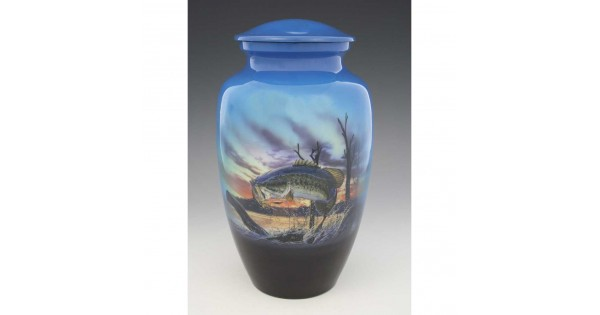 Bass Fishing Cremation Urn For Ashes Fisherman Memorial