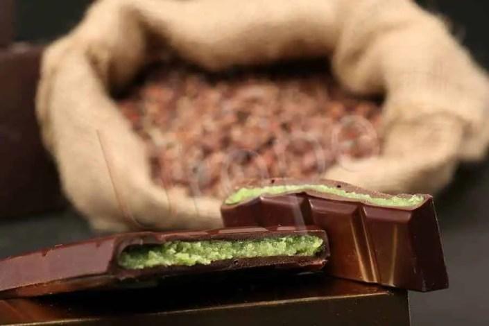 Barre chocolatée à la pate d'amande