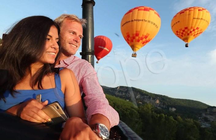 Reportage photographique depuis une montgolfière en Périgord