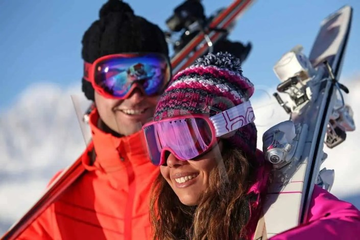 Photo de Couple au ski