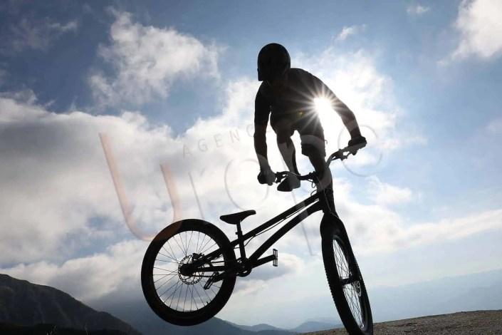 Image de vélo au sommet de la station des Sept Laux