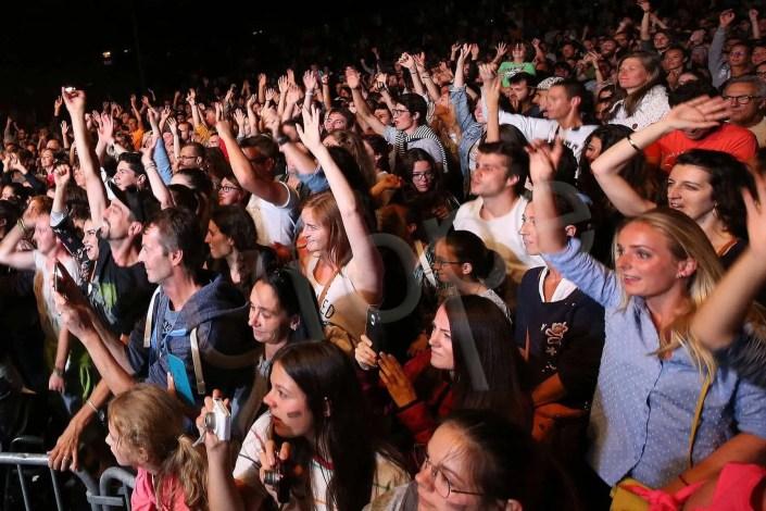 Foule lors d'un concert de musique rock