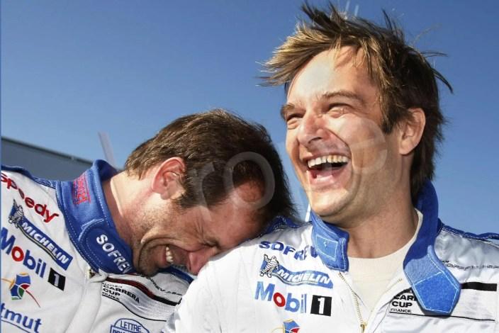 Organisation d'événements avec David Hallyday lors d'une course automobile sur le circuit du Mans