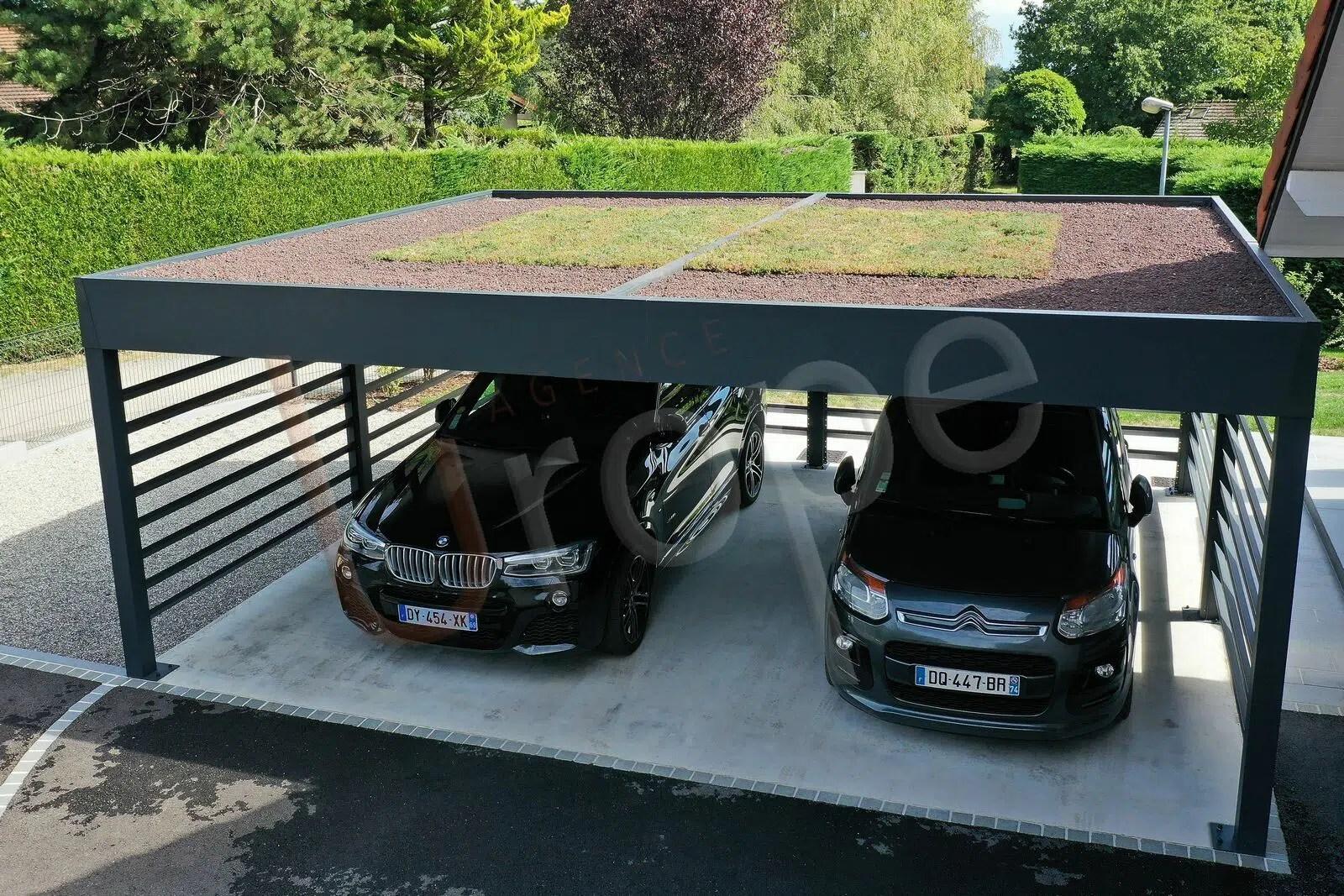 Pergola aluminium sans entretien pour véhicules