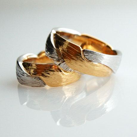 Partnerringe in Gold Platin individuell hergestellt Goldschmied Kaufmann Olten