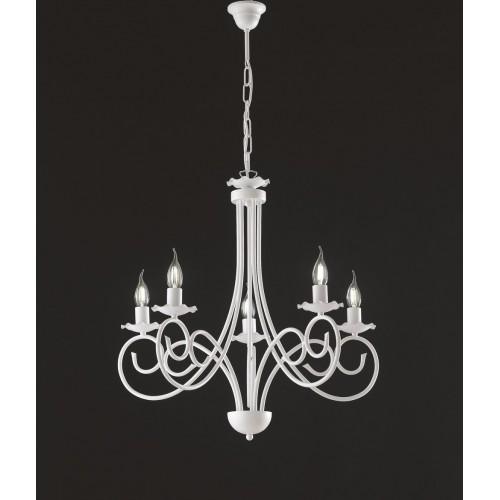 Vendita lampadari shabby chic per gli ambienti interni della tua casa. Lampadario Moderno Shabby Chic Bianco Alma Bon 93
