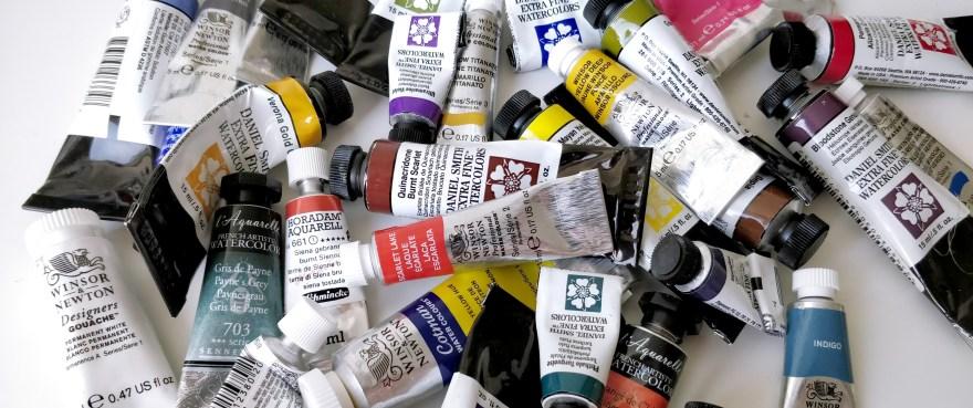 Watercolors in tubes