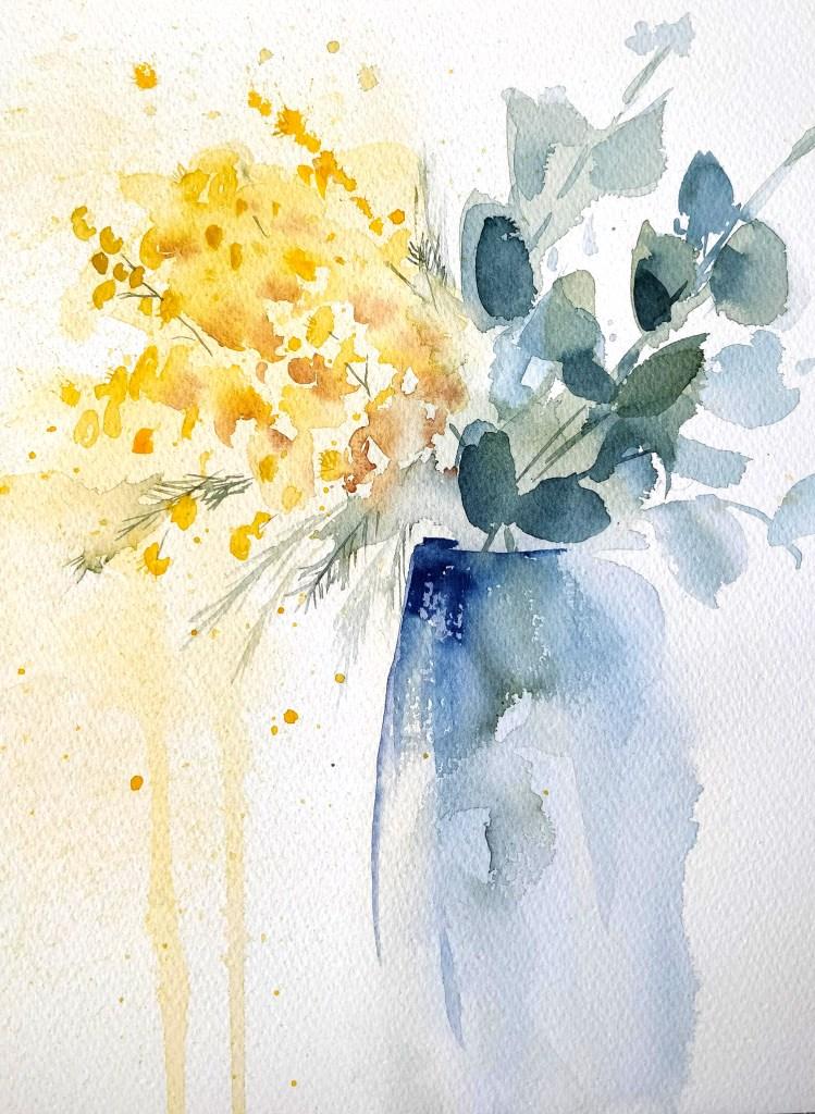 Mimosa à l'aquarelle
