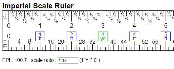 Virtual Engineer Scale Ruler Imperial Units In Ft Yd Mi