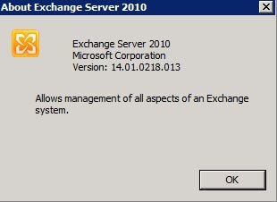 Exchange2010 with SP1 about Version Number