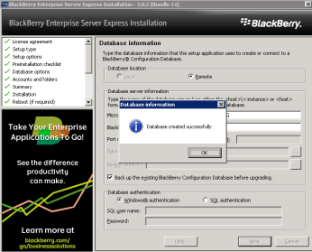 8k-install-bes-express-specify-yes-would-like-to-create-database
