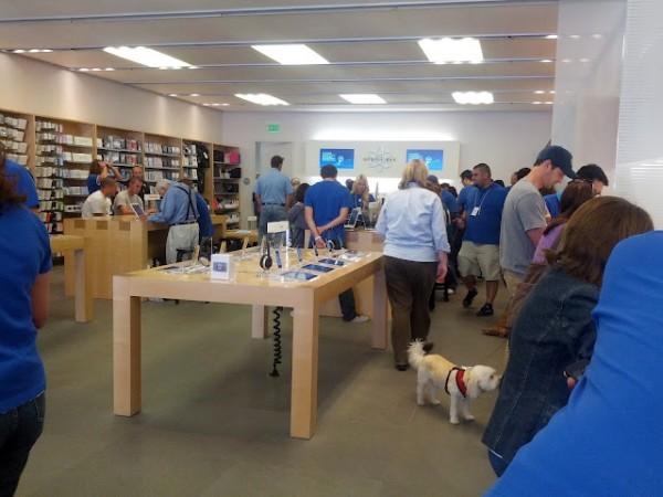 Apple Store Blue Shirts