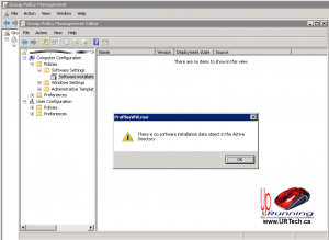 no-software-installation-data-object-in-the-Active-Directory-ad