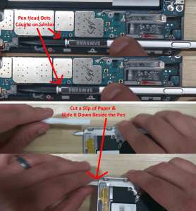 how-to-remove-a-stuck-samsung-pen-inserted-backwards