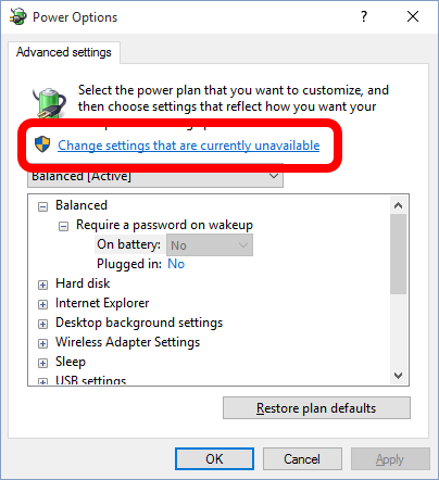 SOLVED: Advanced Power Settings Greyed Out – Require A