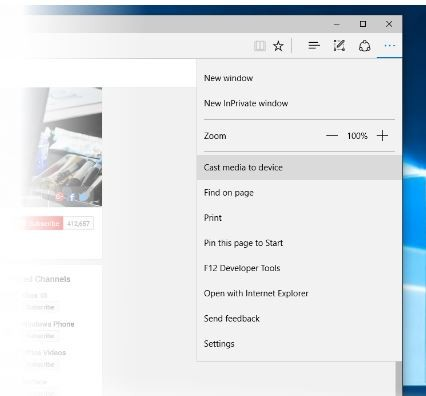 SOLVED: What is MEDIA CASTING in Microsoft Edge in Windows 10 – Up