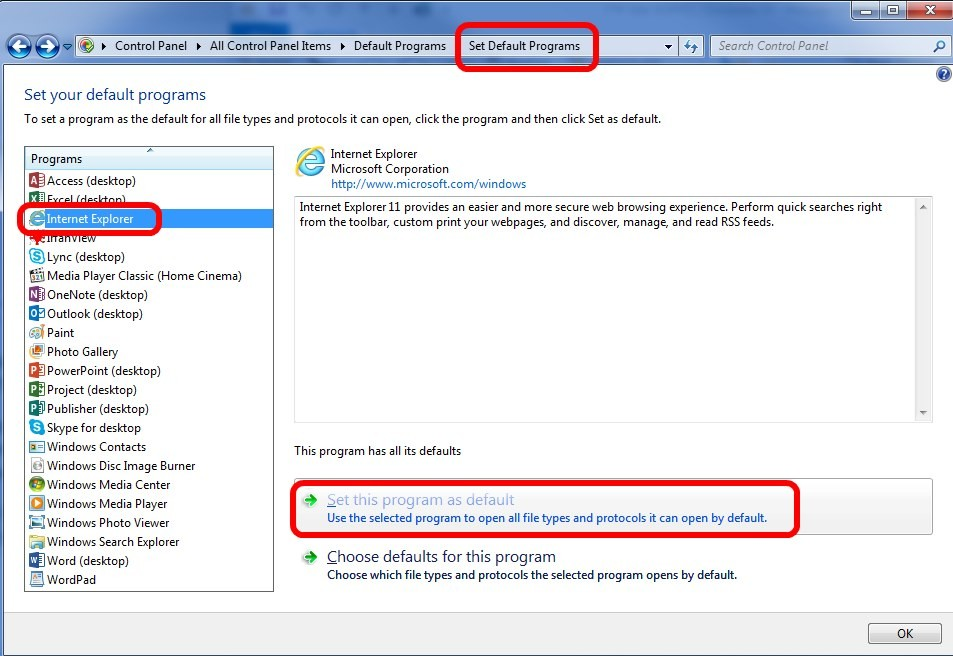 SOLVED: How To Set The Default Browser and Other File