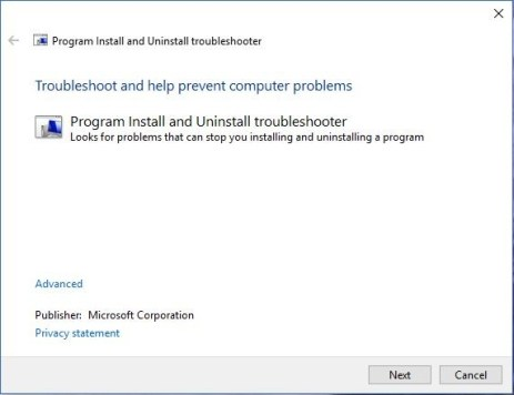 ms-program-install-uninstall-troubleshooter-the-specified-account-already-exists